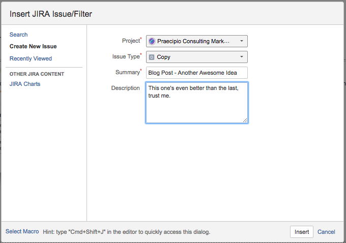 Jira issue filter