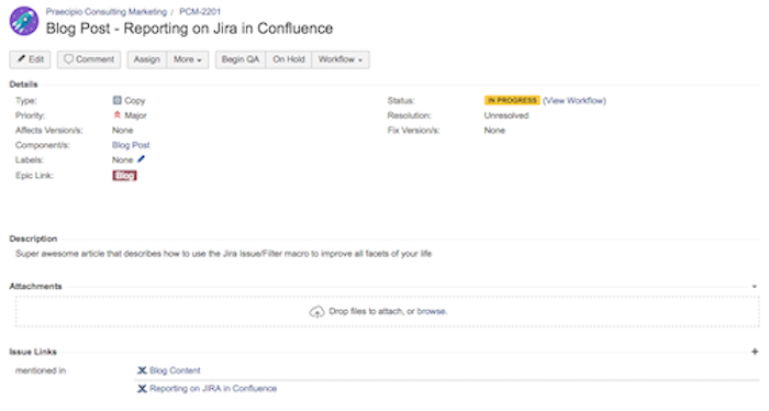 Jira issue link