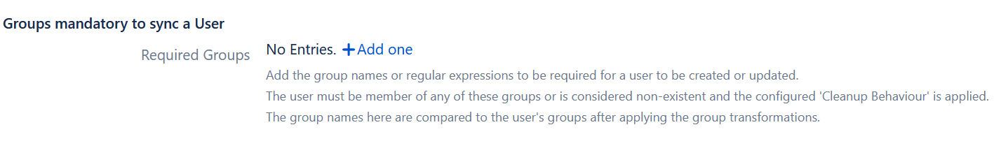 group filter user sync