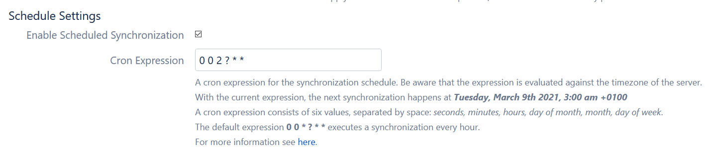 schedule user sync with cron