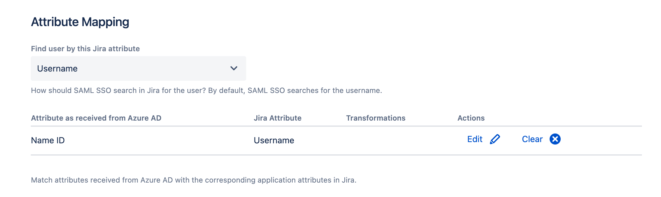 username mapping SAML